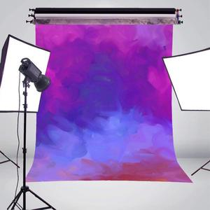 Image 3 - Dreamlike Purple Blue Photography Backdrop Art Smoke Background Kids Photo Studio 5x7ft Photography Background Wall