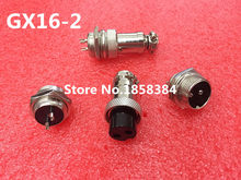 20 pcs = 10 pair GX16-2 2Pin 16mm Pria & Wanita Butt Connector bersama kit GX16 Socket + Plug, RS765 Aviation pasang antarmuka(China)
