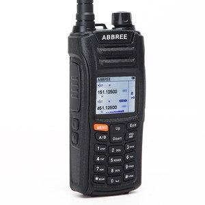 Image 4 - AR F6 ABBREE 6 أربطة شاشة عرض مزدوجة الاستعداد 999CH متعدد الوظائف VOX DTMF SOS شاشة LCD ملونة جهاز الاتصال اللاسلكي