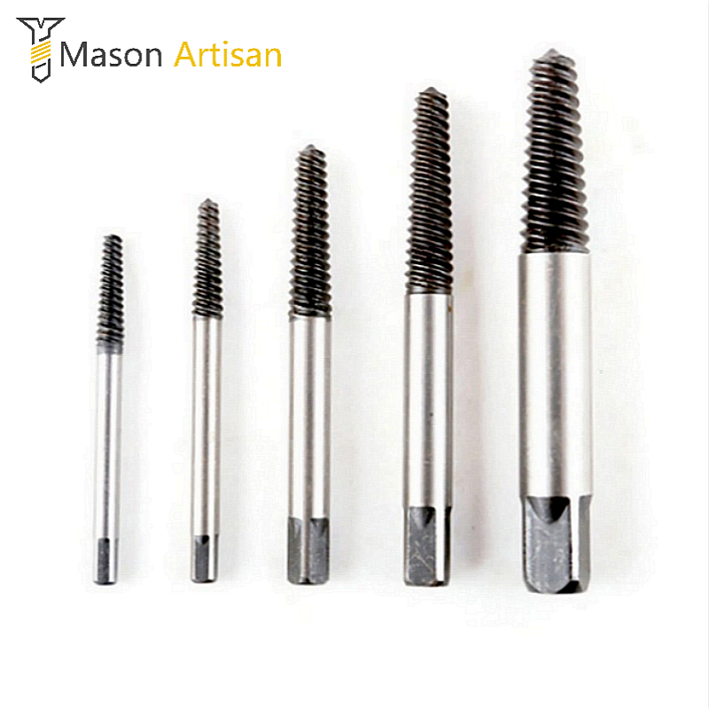 5Pcs/Set Screw Extractor 3-18mm Broken Bolt Remover For Power Tools Drill Guide Bits Set high quality 4pcs drill bits set broken bolt remover double side screw extractor power tools kit 1 2 3 4 wholesale price