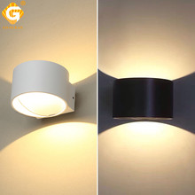 LED Wall Lamps Cube Light Sconce Modern Luminaire Stairs bedside Lamp Indoor 7W Bedroom Hotel Lights Aluminium Lampada Black
