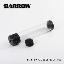 BARROW Length (130-180-230-280mm) X 50mm Diameter Cylindrical Cylinder Hollow R Coolant Tank POM+PMMA Black Cover