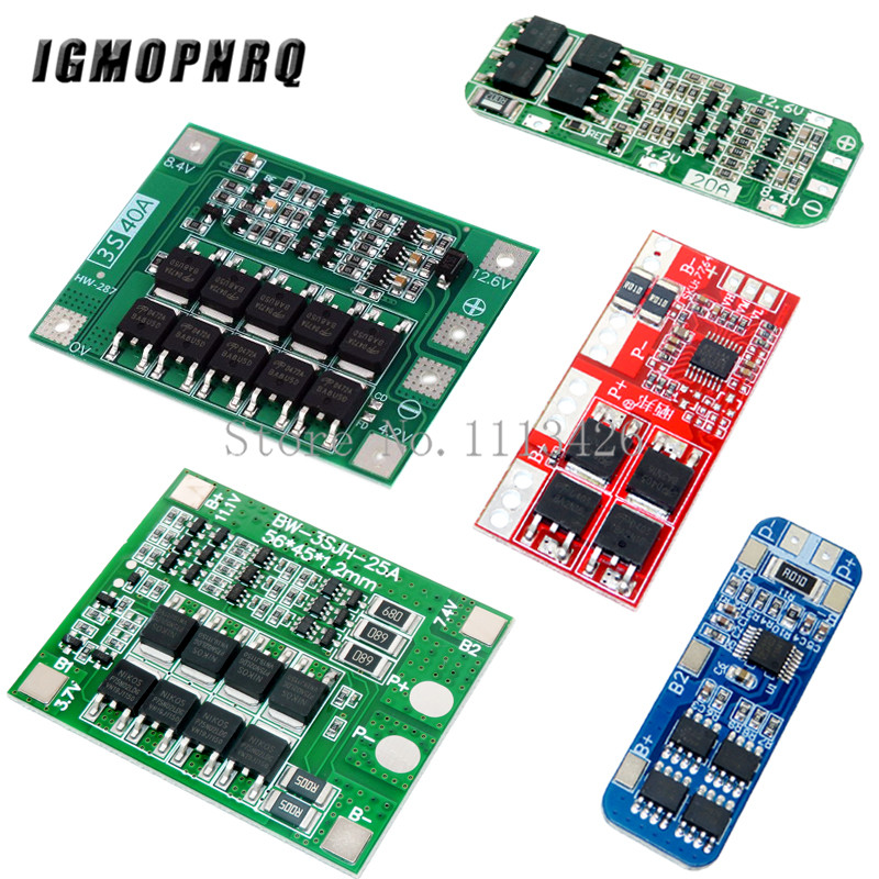 <font><b>3S</b></font> 10A 20A 25A 30A 40A Li-ion Lithium Battery 18650 Charger PCB BMS Protection <font><b>Board</b></font> For Drill Motor Lipo Cell Module image