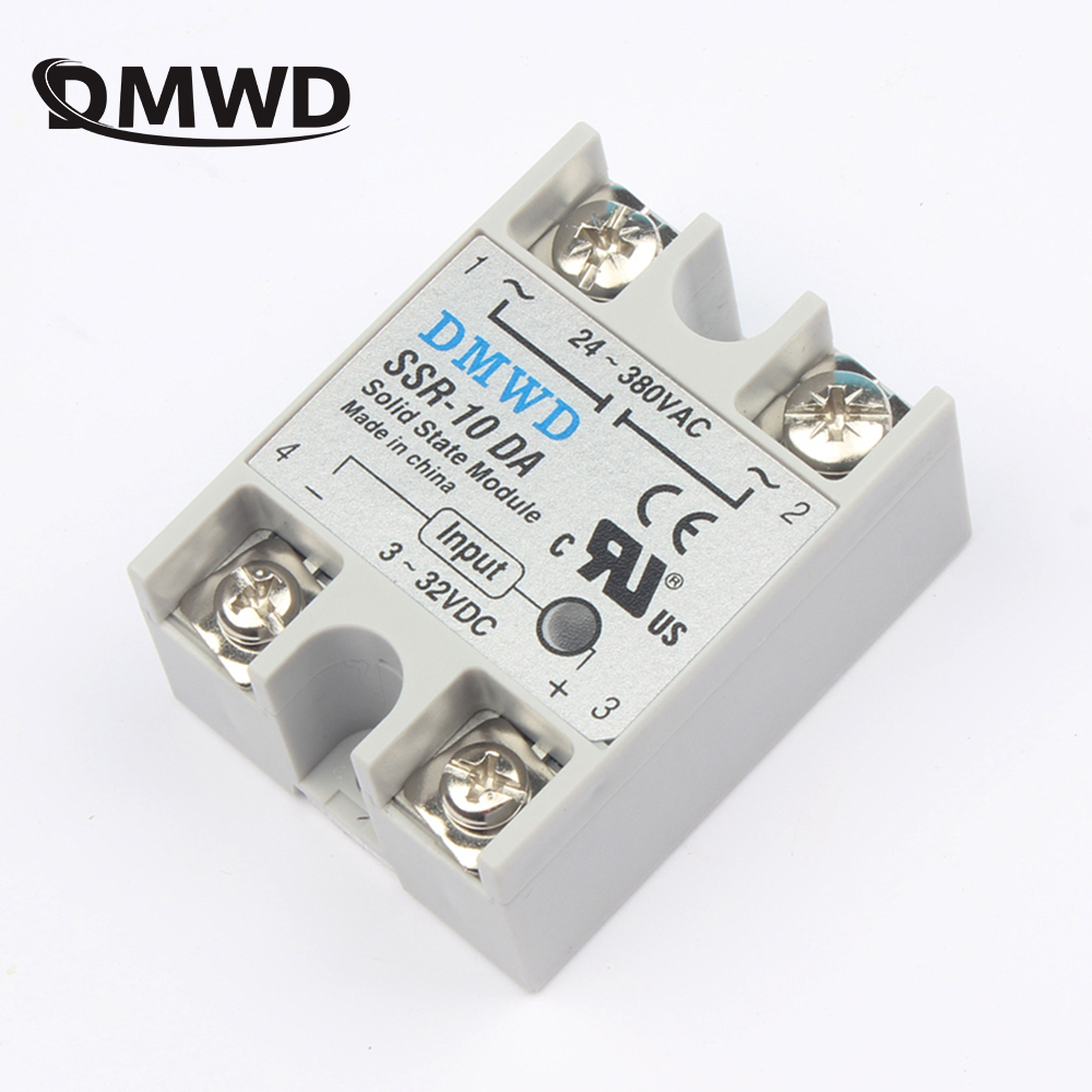 solid state relay SSR-10DA SSR-25DA SSR-40DA 10A 25A 40A actually 3-32V DC TO 24-380V AC SSR 10DA 25DA 40DA high quality new 10pieces lot solid state relay ssr 10da 10a 3 32vdc 24 380vac