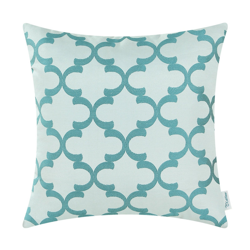 CaliTime Cushion Cover Pillows Shell Home Sofa Decor Bedding Texture Accent Geometric 18 X 18(45cm X 45cm)