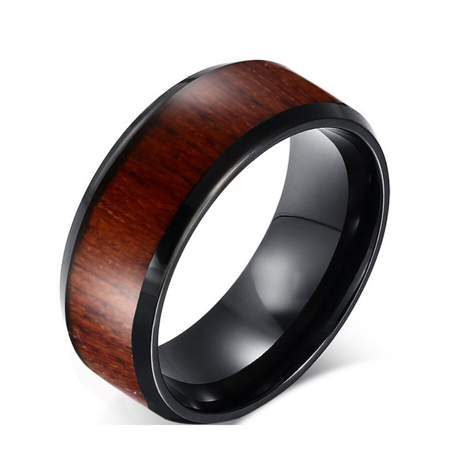 Brand new men jewelry tungsten ring fashion real tungsten ring with simulated wood grain rings for men party rings