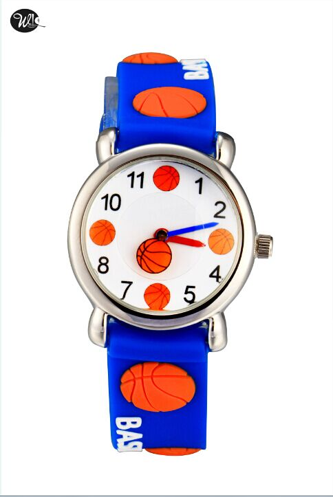 Children watch basketball Brand Quartz Wrist Watch Baby For Girls Boys Waterproof Kid Watches Children Fashion Casual Reloj цена