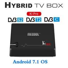 MECOOL KI PRO DVB Android 7.1 TV Box DVB-T2/DVB-S2/DVB-C S905D Amlogic Quad 2G + 16G Apoyo Decodificador CCCAM NEWCAMD