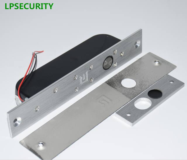 LPSECURITY Low Temperature timer Electric Drop Bolt Door Lock 2 line DC 12V Induction electronic door lock access control system
