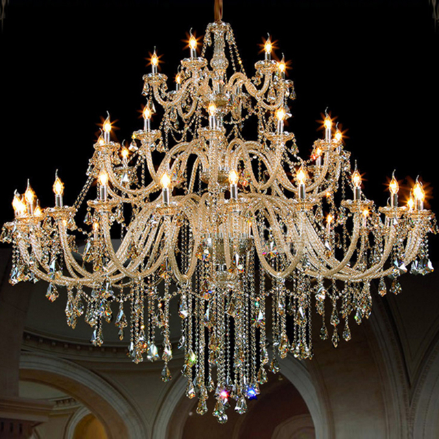 Duplex building living room big chandelier hotel engineering duplex building living room big chandelier hotel engineering chandeliers luxury villas candle lamp european crystal chandeliers aloadofball Image collections