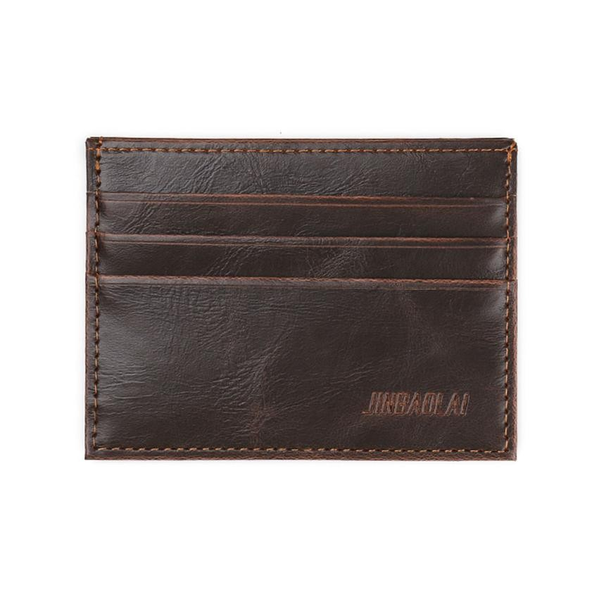 Wallet Fashion Retro Men Leather Clutch Billfold Purse Men Brand Fashion Short Design Gift ID Credit Card Holder #Y men pu leather credit card holder billfold wallet purse checkbook clutch