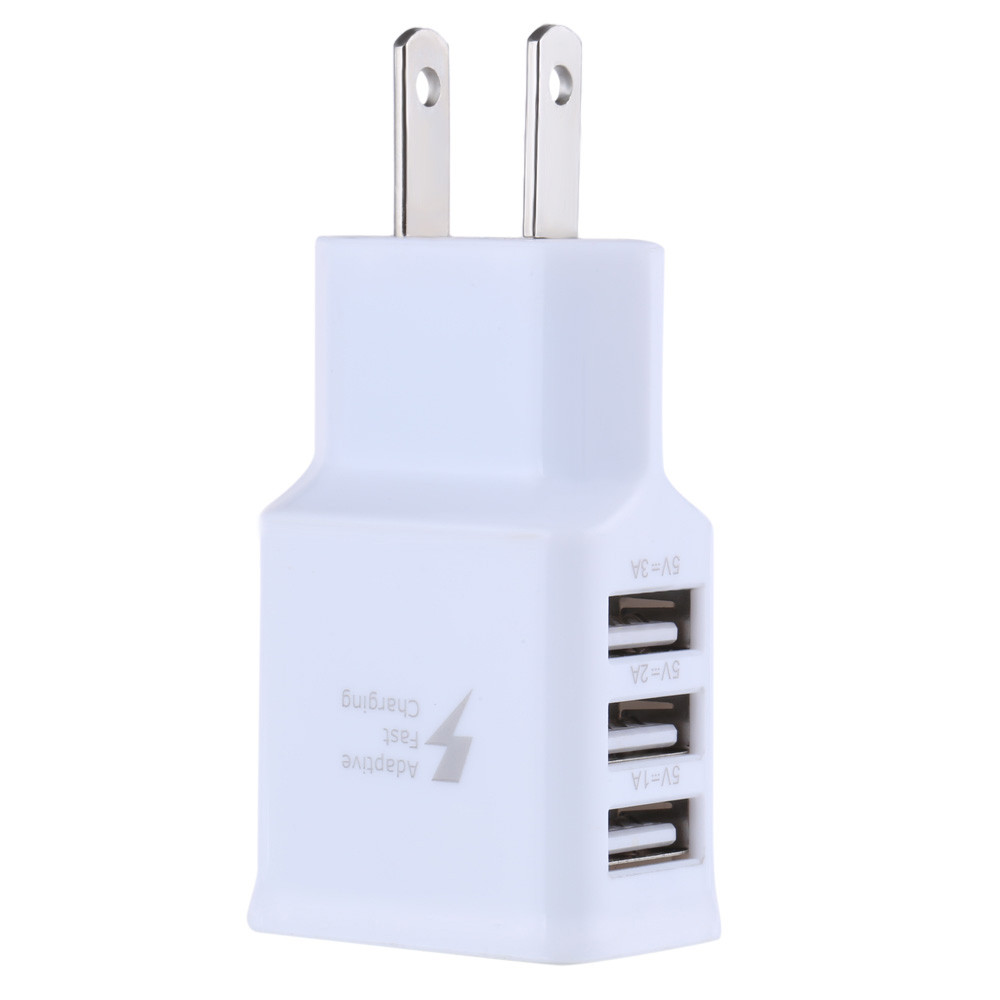 Mokingtop Universal Home Travel 5V/2A 3Ports USB US Wall AC Adptive Fast charger Adapter f