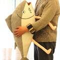 80 см Новый стиль морская рыба плюшевые игрушки серый рыбы подушка подушки мягкие игрушки подарок на день рождения дети кукла
