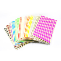 285600Pcs/lot Wholsesale Colorful Self Adhesive Kraft Paper Stickers Office Supplies Gifts Marking Label Paper Sealing Stickers