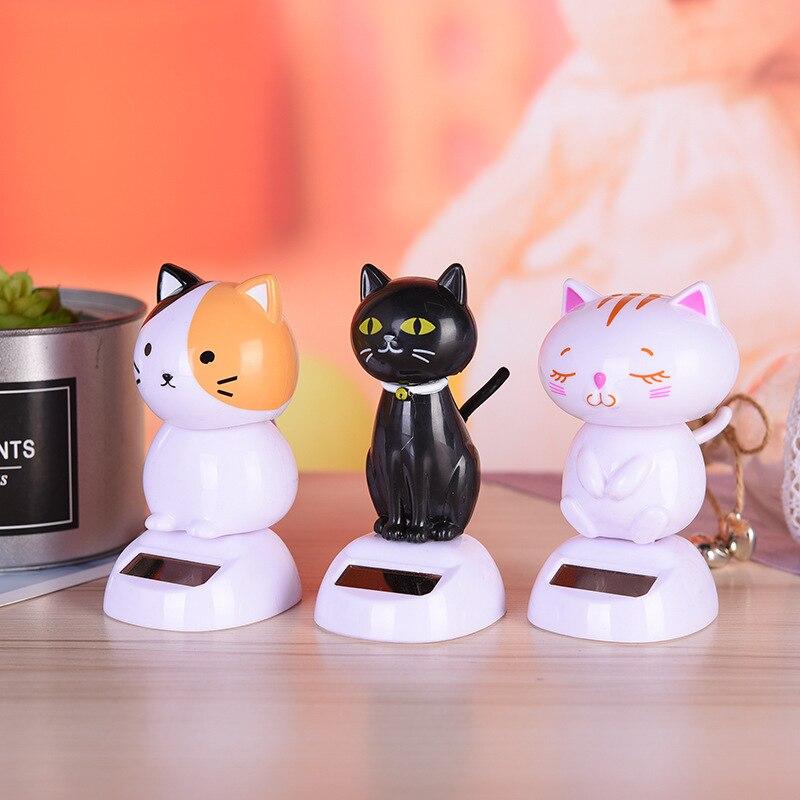 Shaking head car dashboard toy cute interior decoration creative cartoon plastic cat car doll ornaments accessories