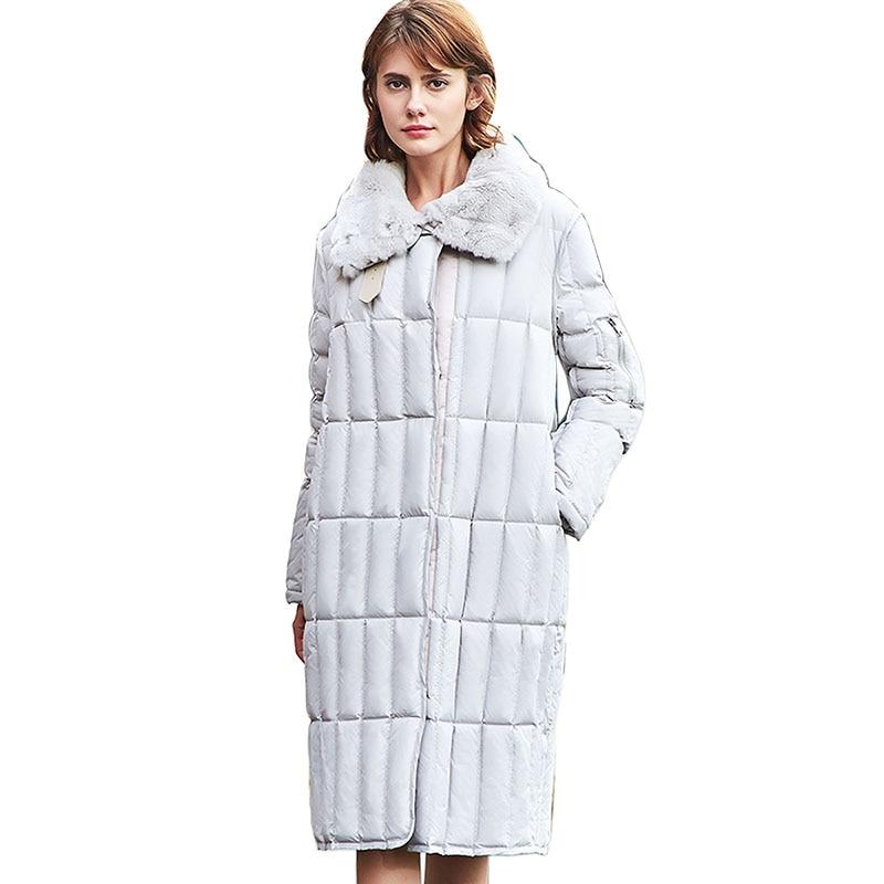 Women's Winter   Down   Jacket 2018 fashion New Lapel white   Down     Coats   Women's Thicken Warm   Coat   Women's Jacket Snow Outwear   Coat