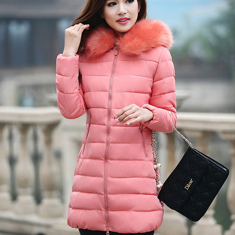 New Large Size Female Coat Womens Winter Jackets And Coats Warm Hooded Fur Collar Down Cotton Coat Female Manteau Femme AQ819973 womens winter coats jackets women parkas thick warm coat faux fur collar hooded down female coat ladies jacket manteau femme