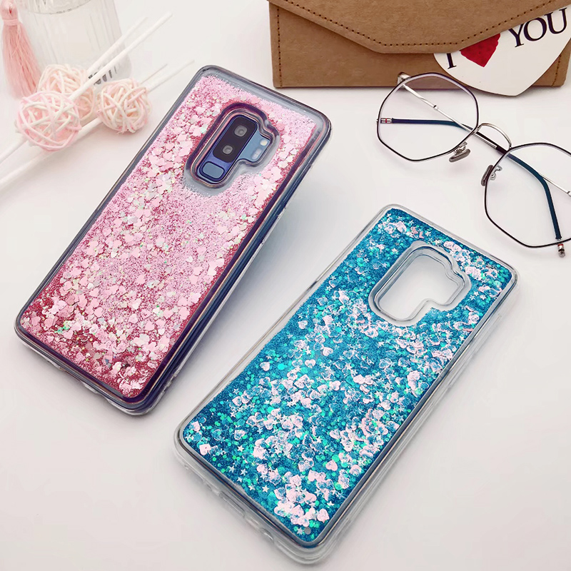 for Samsung Galaxy S9 case Back cover Bling Glitter Dynamic Quicksand Liquid Case for samsung S9 plus cover Galaxy S9 coque (11)