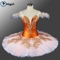 Higirl BT9165 Rose Red Classical Ballet Tutu Girl Stage Performance Ballet Tutu Ballerina Dance Costume Women