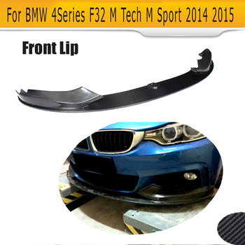 4 Series carbon fiber front bumper lip spoiler Diffuser With splitters for BMW F32 F33 M sport Only 2014 2015 Convertible 435i image