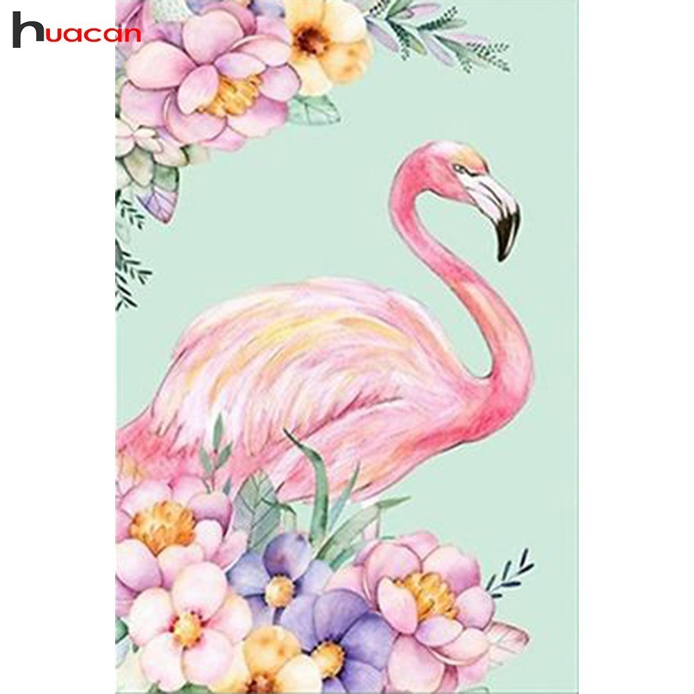 HUACAN Diamond Embroidery Animals Diamond Painting Flamingo Cross Stitch 5D DIY Full Drill Square Mosaic Decoration HomeHUACAN Diamond Embroidery Animals Diamond Painting Flamingo Cross Stitch 5D DIY Full Drill Square Mosaic Decoration Home