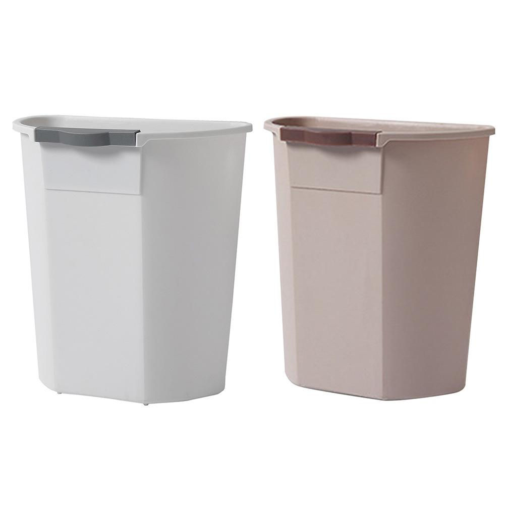 US $9.74 35% OFF|Hanging Trash Can Small Cabinet Kitchen Trash Can Garbage  Cans For Kitchen Cupboard With Automatic Return Lid-in Waste Bins from Home  ...