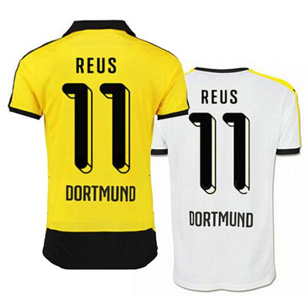 2015 Dortmund Jersey 2016 Borussia Dortmund Soccer Jerseys 15 16 BVB Trikot Football  shirts REUS 11 HUMMELS 15 MKHITARYAN 10 66b809209