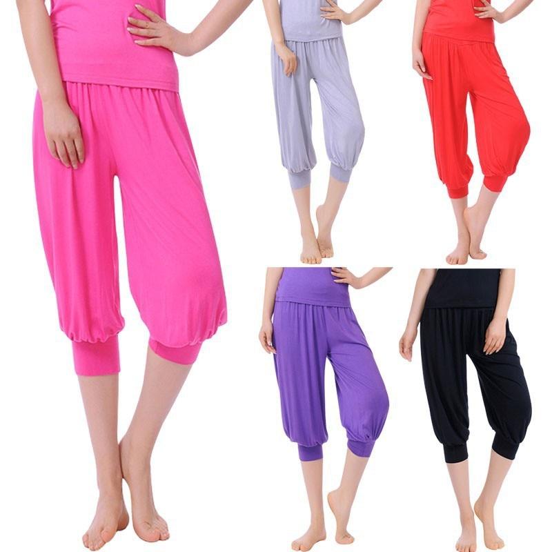 2015 New Amour Ladies 3/4 Harem Baggy Shorts Women Plain Cropped ...