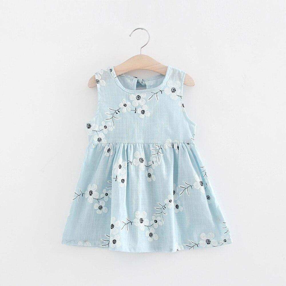 2018 Nya Kids Girl Dresses Chiffion Polka Dot Pläterad Sundress ... 253c5599f4cbf