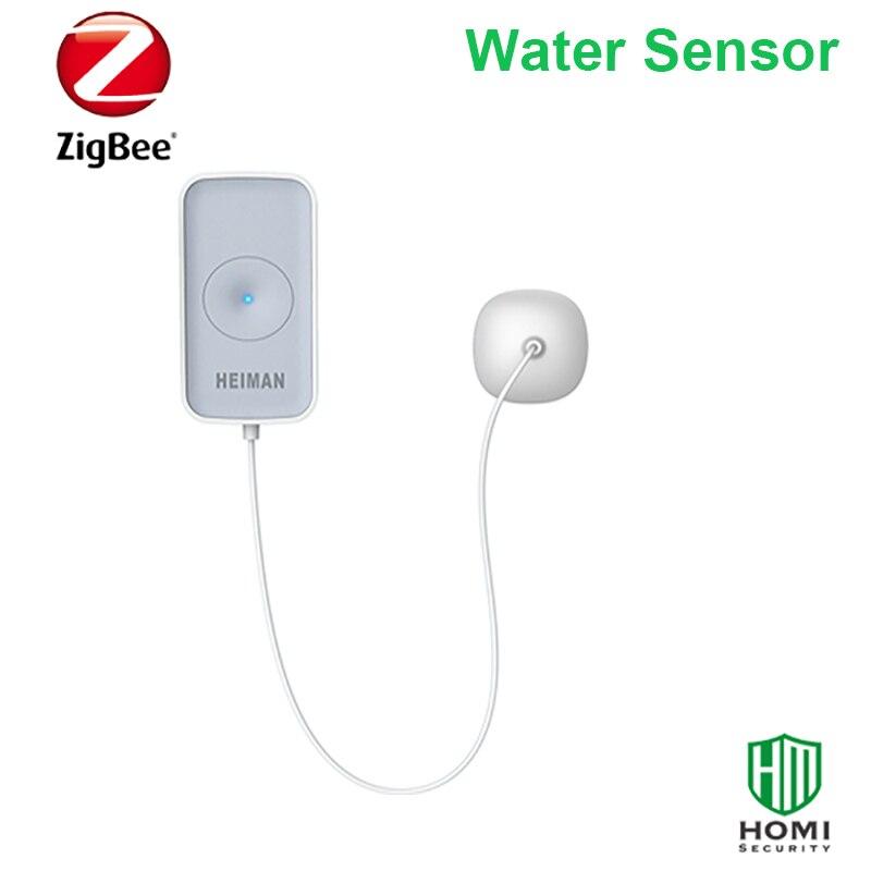 Wireless Zigbee smart home fire+water leakage alarm system wifi push zigbee fire water leakage sensor alarm message - 4