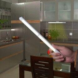 Sensor de toque usb recarregável 22 led sob a iluminação do armário lâmpada parede noite barra luz cozinha guarda-roupa iluminação emergência