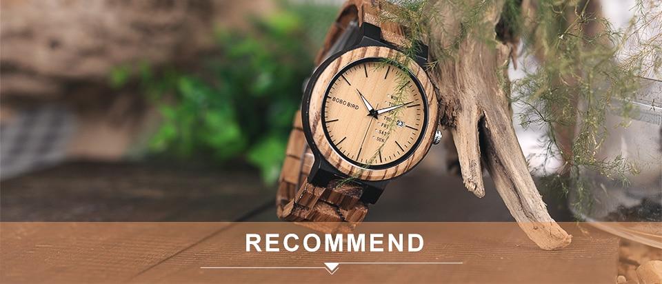 70f5fc45f373 √Bobo Bird v-h08 bambú relojes para hombre de cuarzo deporte al aire libre relojes  reloj con correa de cuero Relojes Hombre - a250