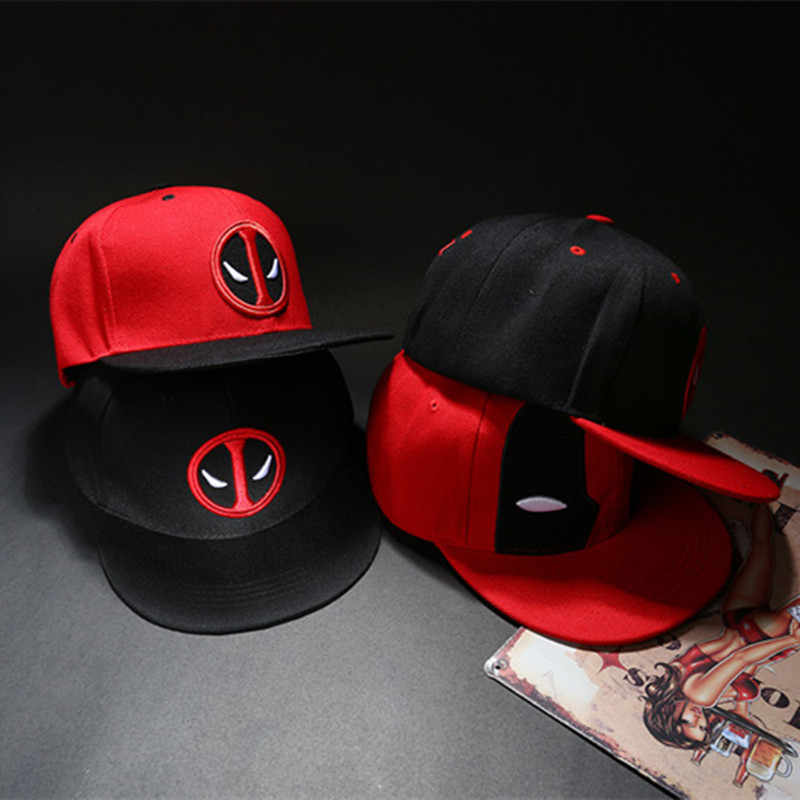 72a09e9b9ba Wellcomics Marvel Avengers Deadpool Red Symbol Baseball Cap Adjustable  Cartoon Sunbonnet Sun Hat Fashion Cosplay Costume