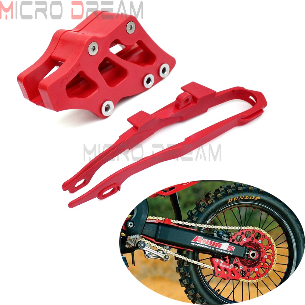 Motocross Chain Guide Guard With Swingarm Chain Slider Cover For Honda CR125R CR250R CRF250R CRF450R CRF250X CRF450X  2000-2013
