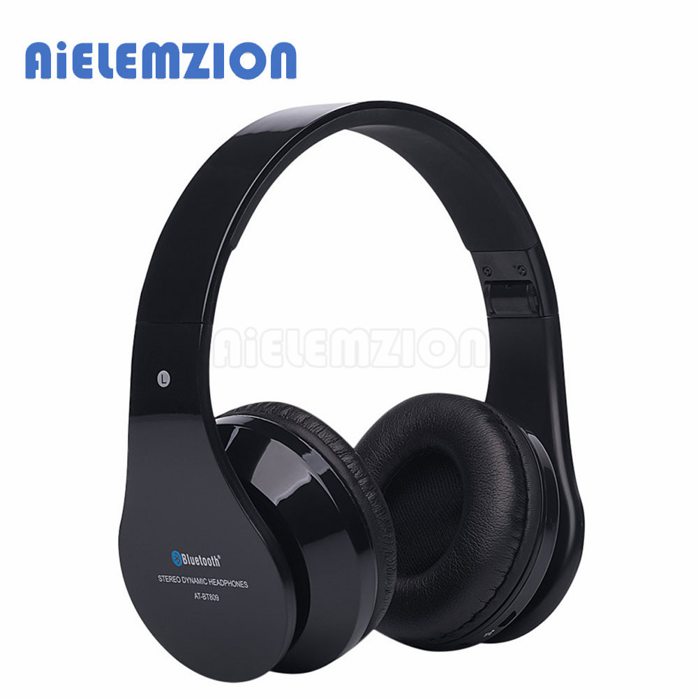 AiELEMZION Wireless Stereo Bluetooth Headphones with Mic Sports Earphones Headband Headsets Support TF Card FM Radio 3.5mm dawupine e508 sport stereo earphones with fm radio and mp3 player support tf card running wireless headset earphones