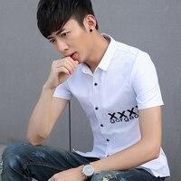 Новое поступление Для мужчин S Cargo Shirt Для мужчин Повседневное одноцветное Рубашки с короткими рукавами работать с Повседневная рубашка чел