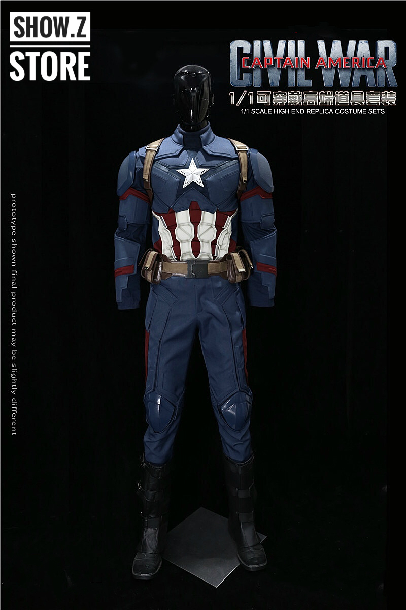 [Show.Z Store] Killerbody Hero 1/1 Captain America Civil War Wearable Suit Cosplay Custom the avengers civil war captain america shield 1 1 1 1 cosplay captain america steve rogers abs model adult shield replica