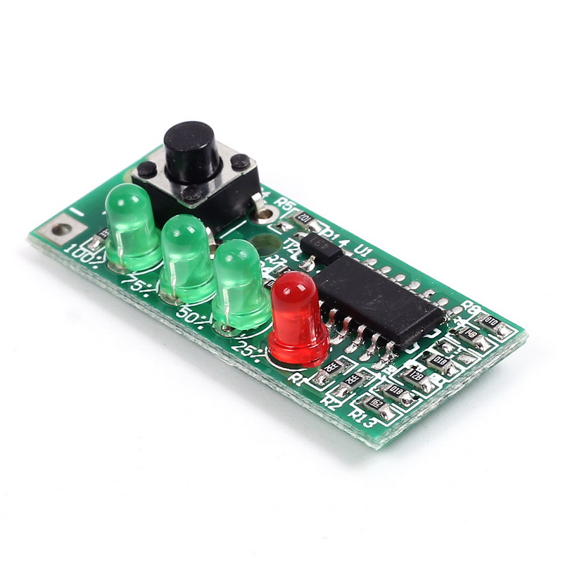 Power Indicator 4-Level Battery Tester for 3S 12V Lithium Battery Saturation voltage 12.6V Quantity of Electric Charge Display
