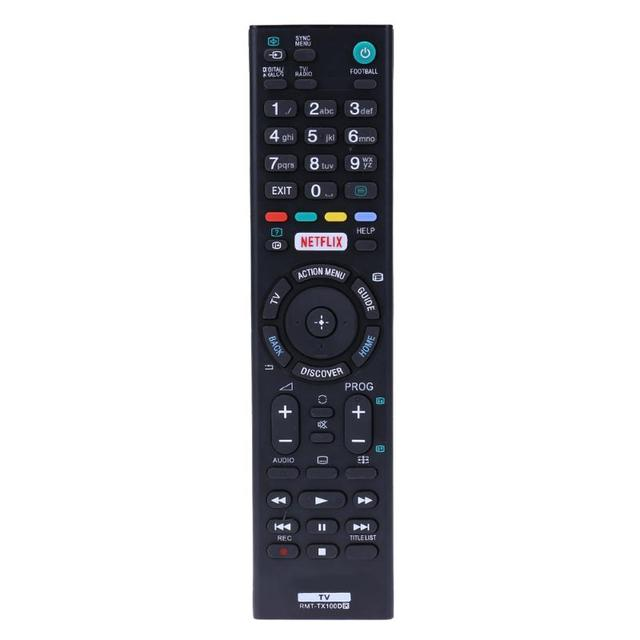RMT-TX100D Remote Control Replacement for SONY AK59-00166A TV Remote Control for kd-65x8507c kd-65x8508c kd-65x8509c kd-65x9305c