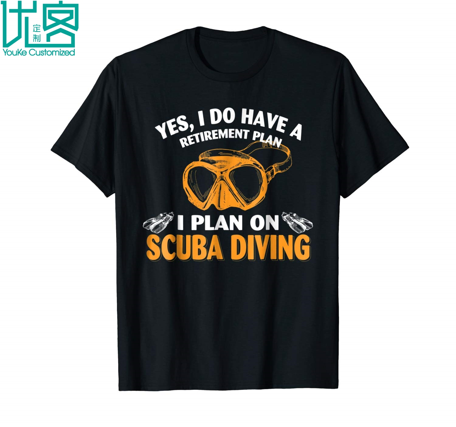My Retirement Plan Is Scuba Diving T Shirt Gift 2019 Summer Men's Short Sleeve T-Shirt image