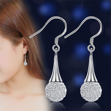 Luxury Silver Zirconia Earrings