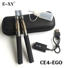 E-XY Electronic Cigarette CE4 Double Starter Kits Zipper Carry Case 650mAh 900mAh 1100mAh 1300mAh eGo Kit