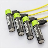 2pcs ZNTER 1 5v 1250mAh AA Li Po Battery USB Rechargeable AA Li Po Battery For