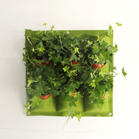 Garden Pockets Wall Vertical Garden Grow Bags For Plants Flower Felt Planter Bags TB Sale
