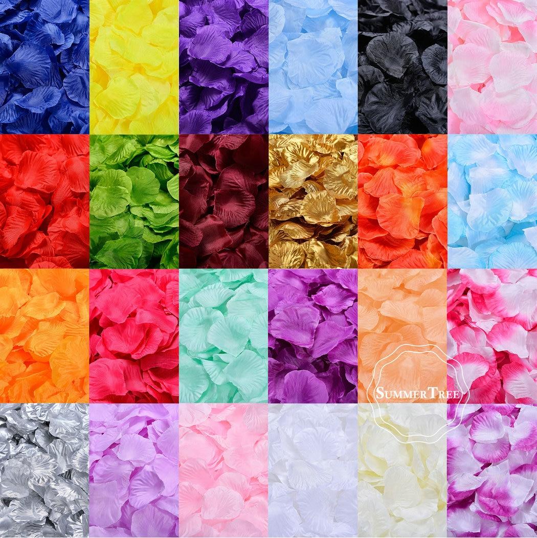 100pcs Artificial Rose Petals Silk Flower DIY Crafts For Wedding Party Decor