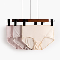 3pcs/lot Women Natural Silk Panties Briefs Mid rise Underwear Intimates Women Health Underpants 100% Silk Fabric