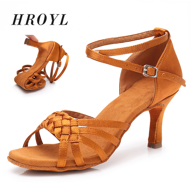 Women Dance Shoes Girls Peep Toe Latin Salsa Dance Shoes Rumba Ballroom Performance Dance Shoes Ankle Strap Spike Heel Dancing Shoes for Women /& Girls