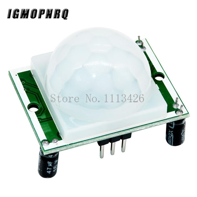 50PCS LOT HC SR501 HCSR501 SR501 human infrared sensor module Pyroelectric infrared sensor