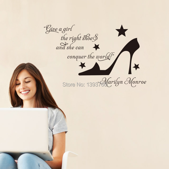 Marilyn Monroe Quote Wall Stickers Conquer The World Quote -1808