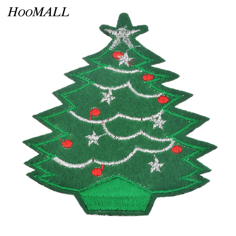 Christmas Tree Patch: Hoomall 5PCs Christmas Tree Patches For Clothing Iron On